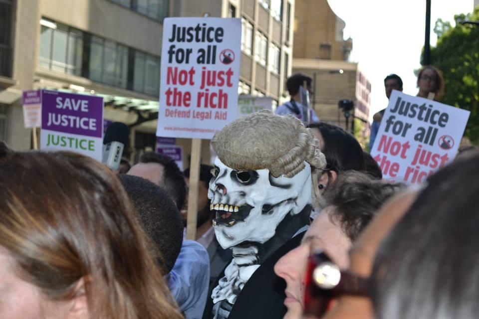 save uk justice - crowd